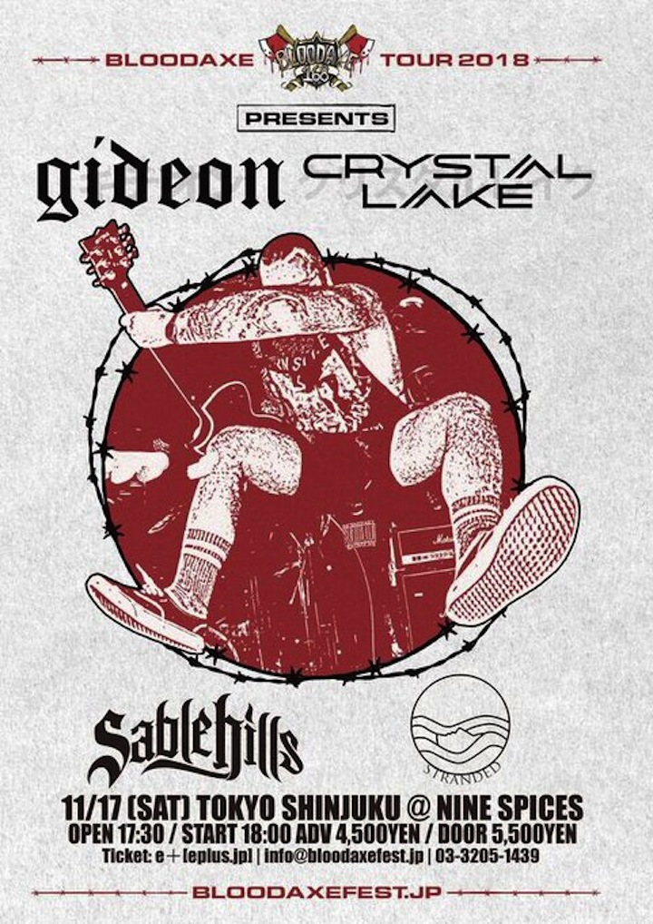 BLOODAXE TOUR GIDEON / CRYSTAL LAKE JAPAN TOUR 2018