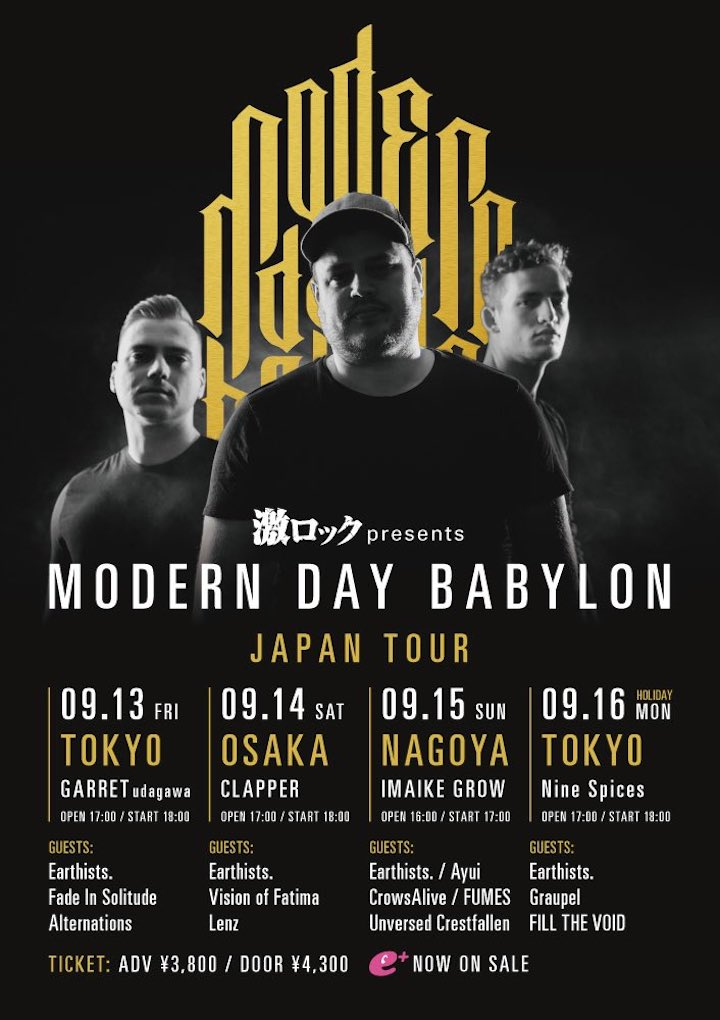 激ロック presents「MODERN DAY BABYLON JAPAN TOUR」