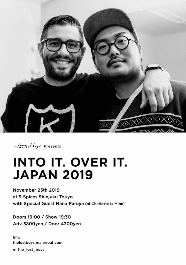 the lost boys presents「INTO IT. OVER IT. JAPAN 2019」