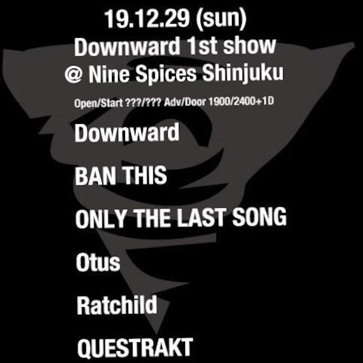 Downward 1st show