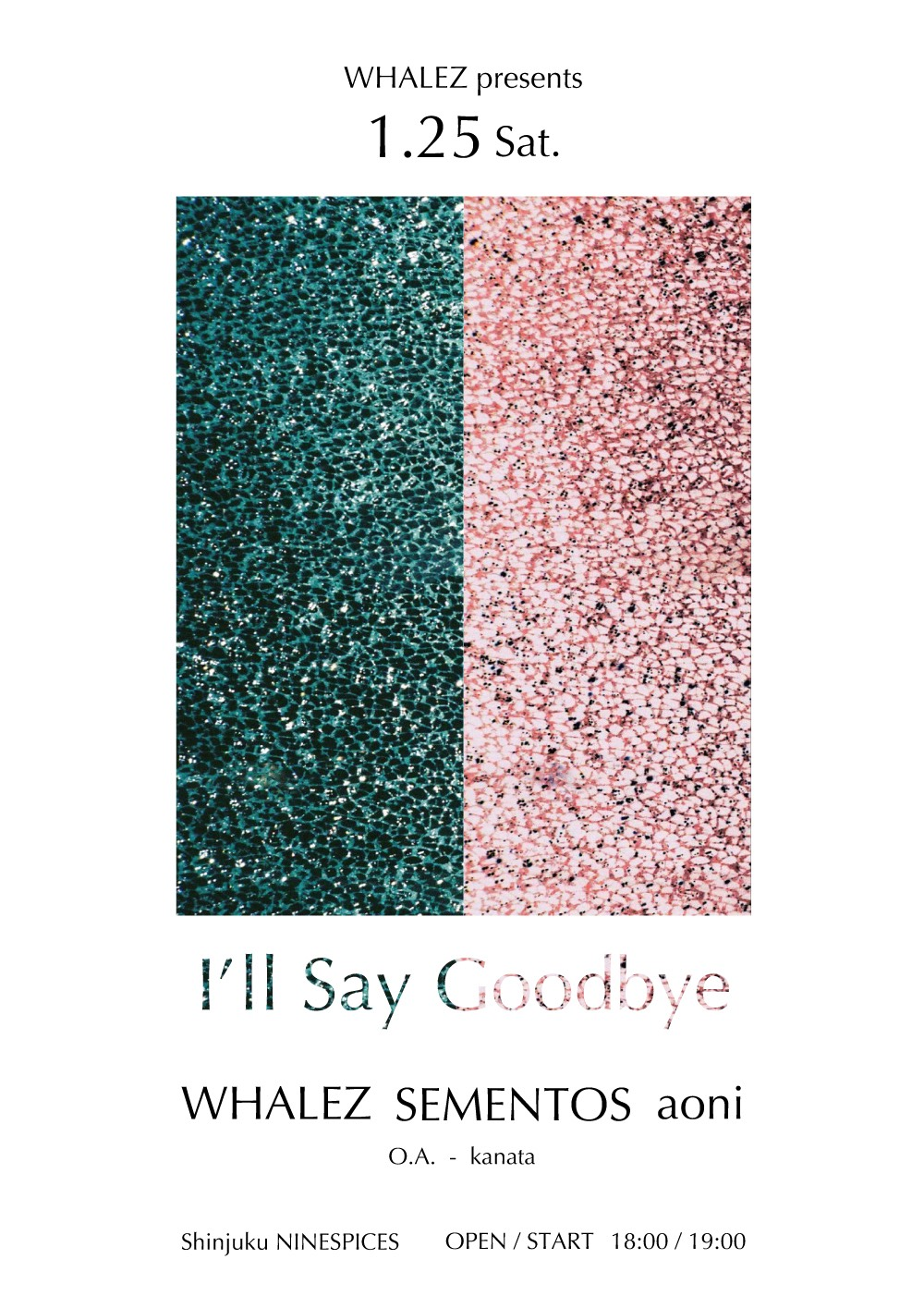 "WHALEZ presents  4th EP Release Party "" I'll Say Goodbye """
