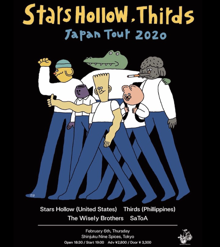 NOTHING FEELS REAL presents「Stars Hollow / Thirds Japan Tour 2020」